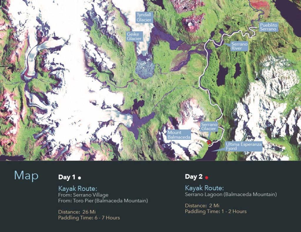 kayak en patagonia map serrano-01